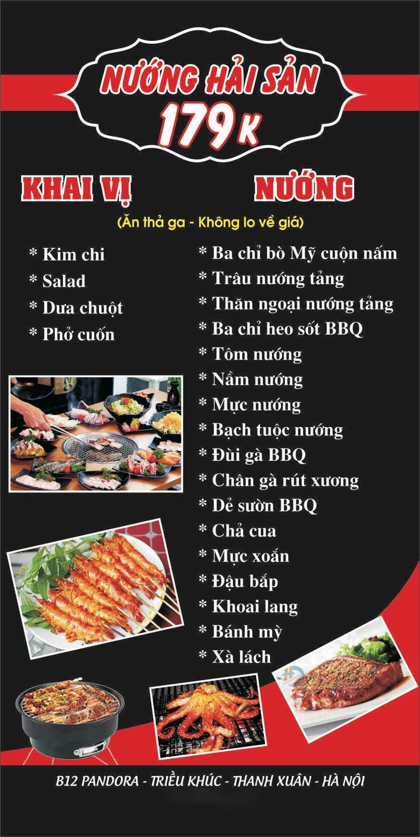 Menu Lẩu nướng 2 3 Zô - Triều Khúc 7