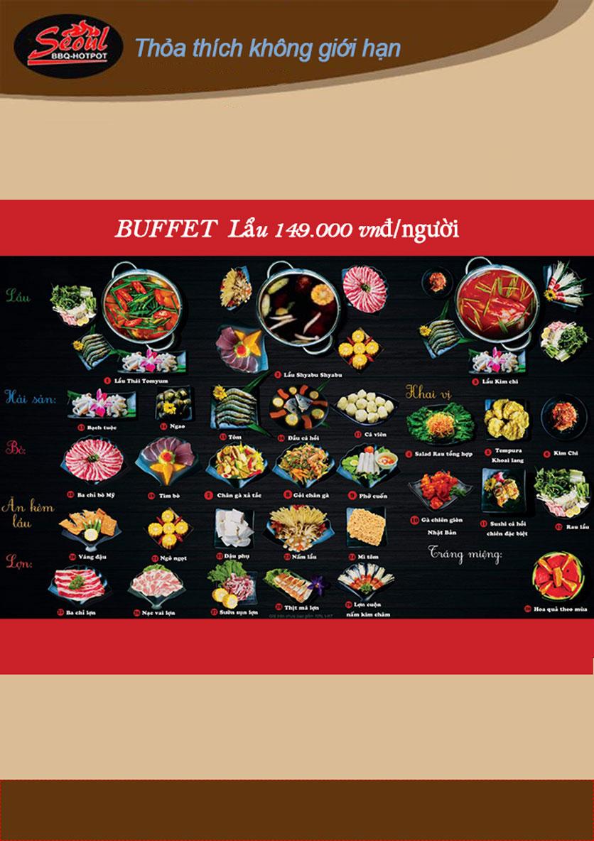 Menu Lẩu Nướng Seoul BBQ - Trần Quốc Hoàn 3