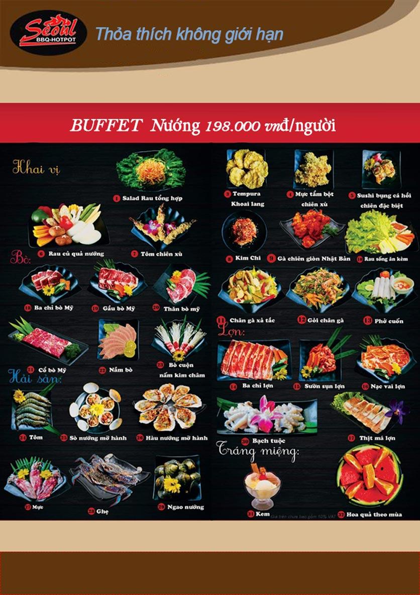 Menu Lẩu Nướng Seoul BBQ - Trần Quốc Hoàn 4