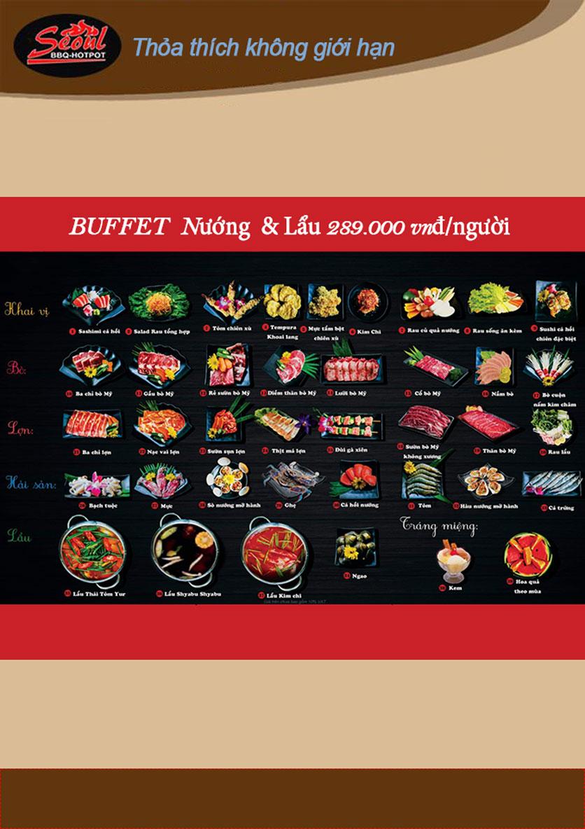 Menu Lẩu Nướng Seoul BBQ - Trần Quốc Hoàn 5