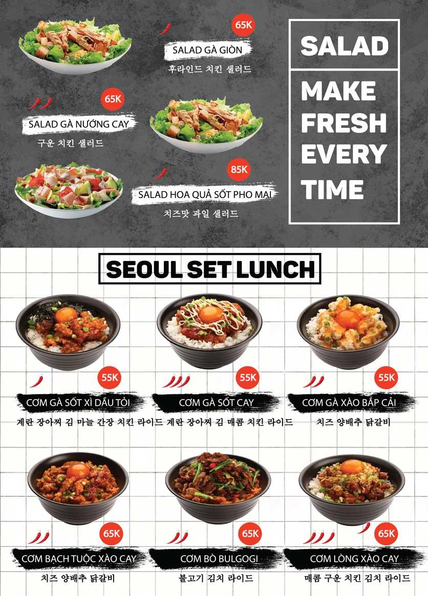 Menu Gà Rán Seoul Soul - Phạm Huy Thông 6