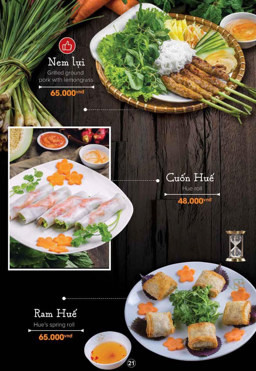 Menu Nét Huế - Trần Duy Hưng 13