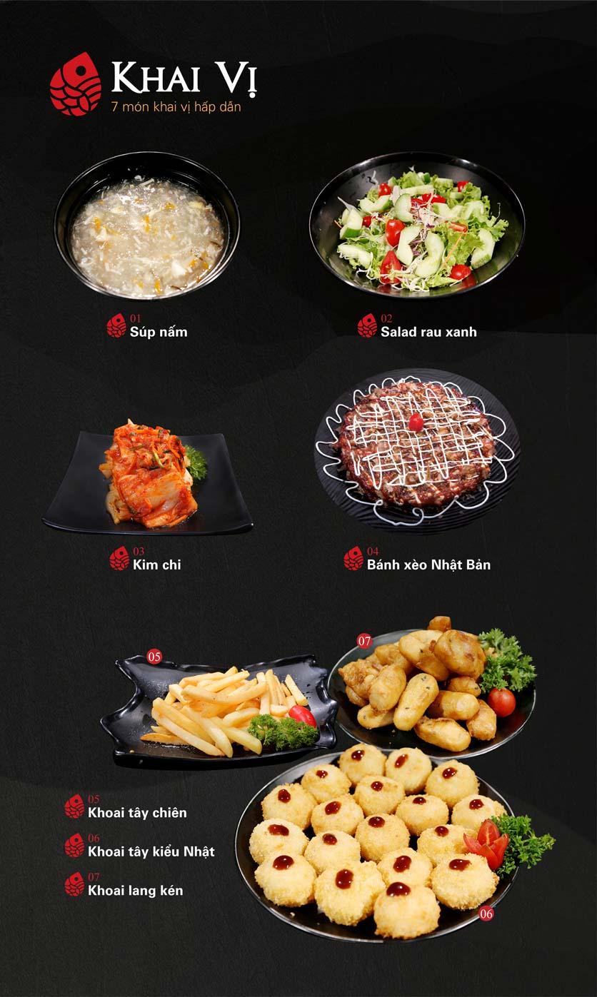Menu Nabesu - Buffet Lẩu Nhật - Lê Văn Lương 2