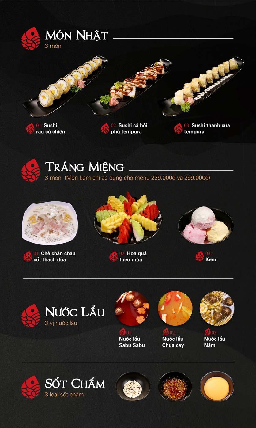 Menu Nabesu - Buffet Lẩu Nhật - Lê Văn Lương 3