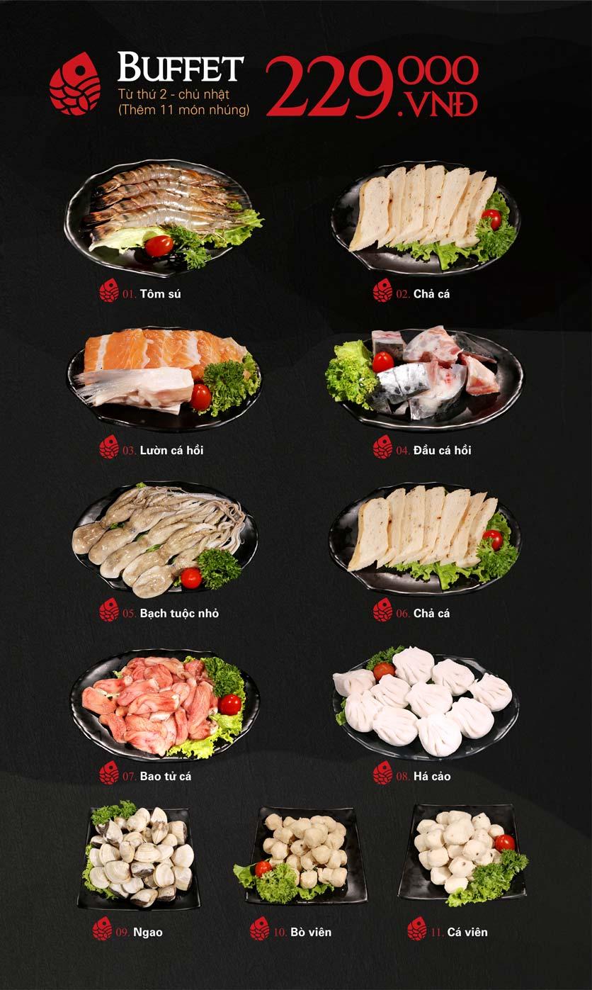 Menu Nabesu - Buffet Lẩu Nhật - Lê Văn Lương 5