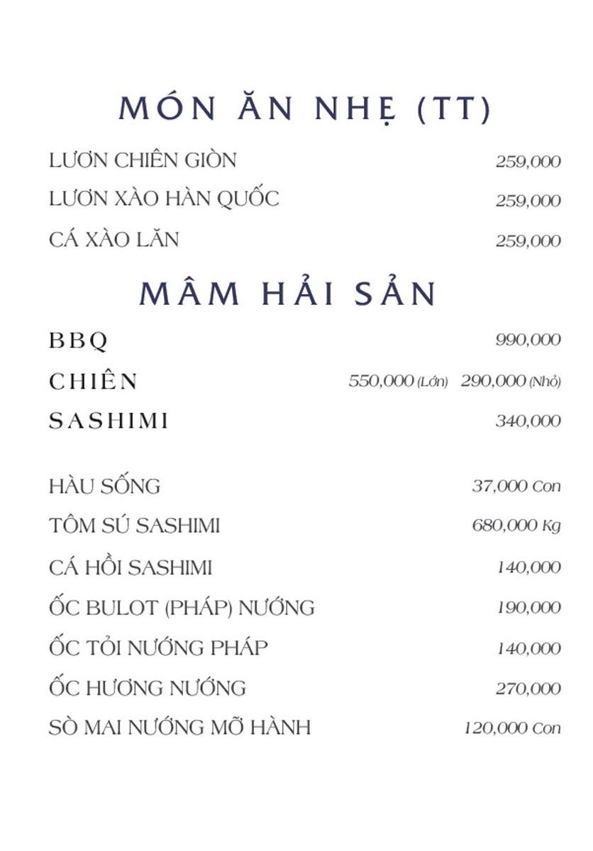 Menu NS Bến Thuyền - Nguyễn Văn Trỗi 3