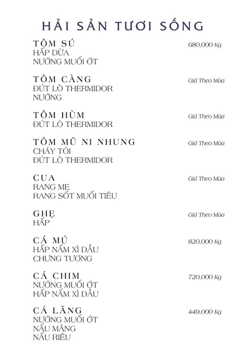 Menu NS Bến Thuyền - Nguyễn Văn Trỗi 4