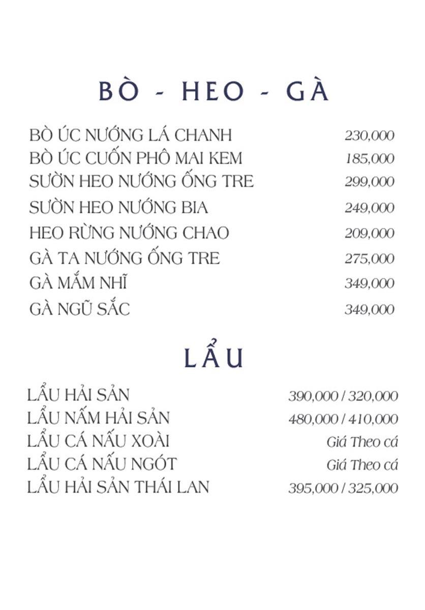 Menu NS Bến Thuyền - Nguyễn Văn Trỗi 5