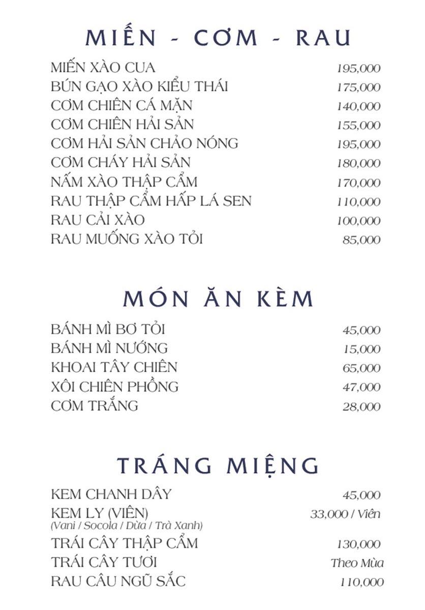 Menu NS Bến Thuyền - Nguyễn Văn Trỗi 6