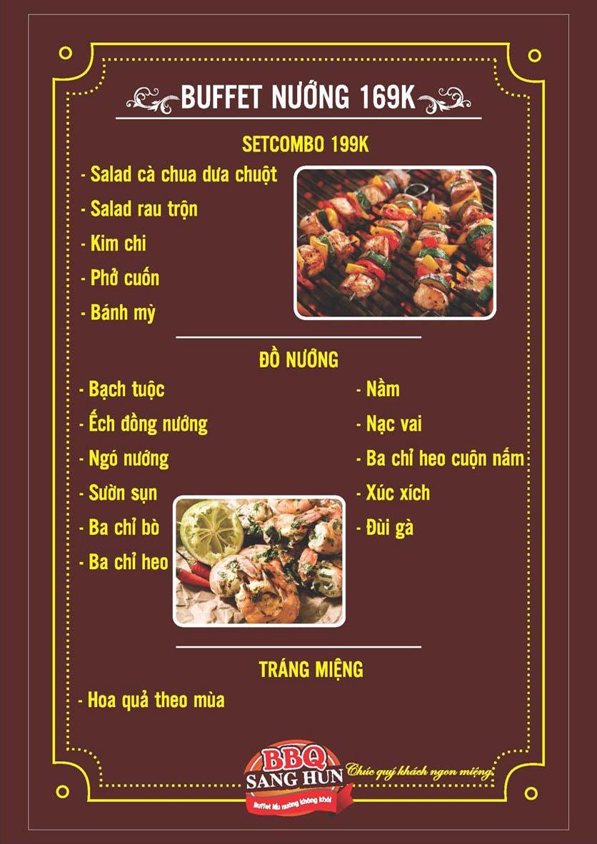 Menu Sang Hun BBQ – Trần Quốc Hoàn  1
