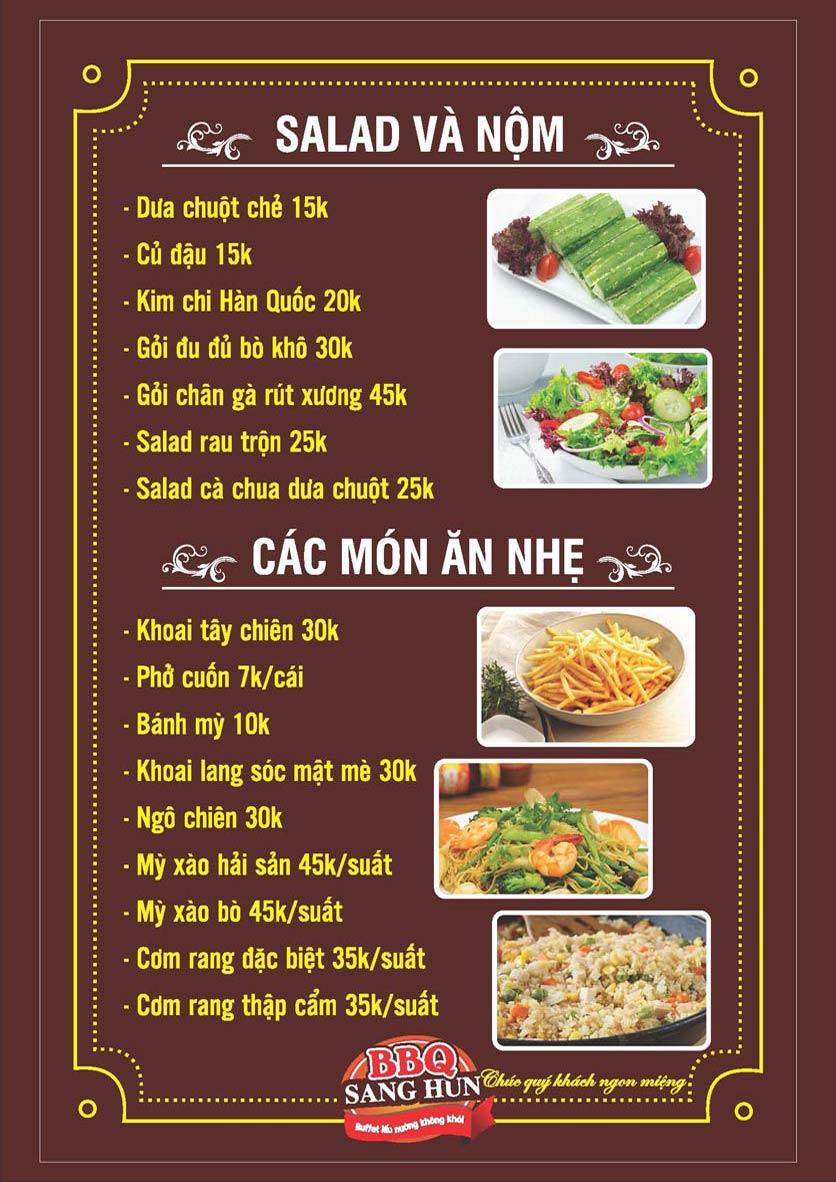 Menu Sang Hun BBQ – Trần Quốc Hoàn  11