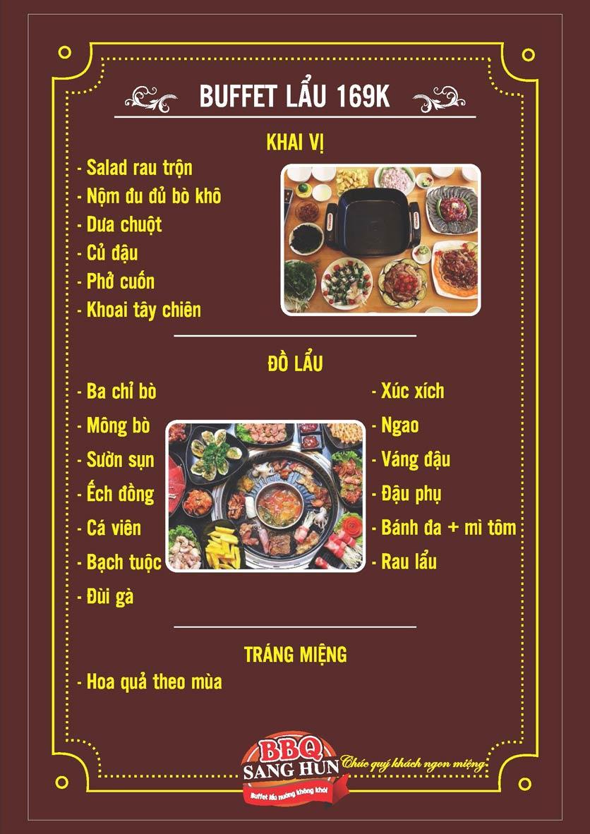 Menu Sang Hun BBQ – Trần Quốc Hoàn  2