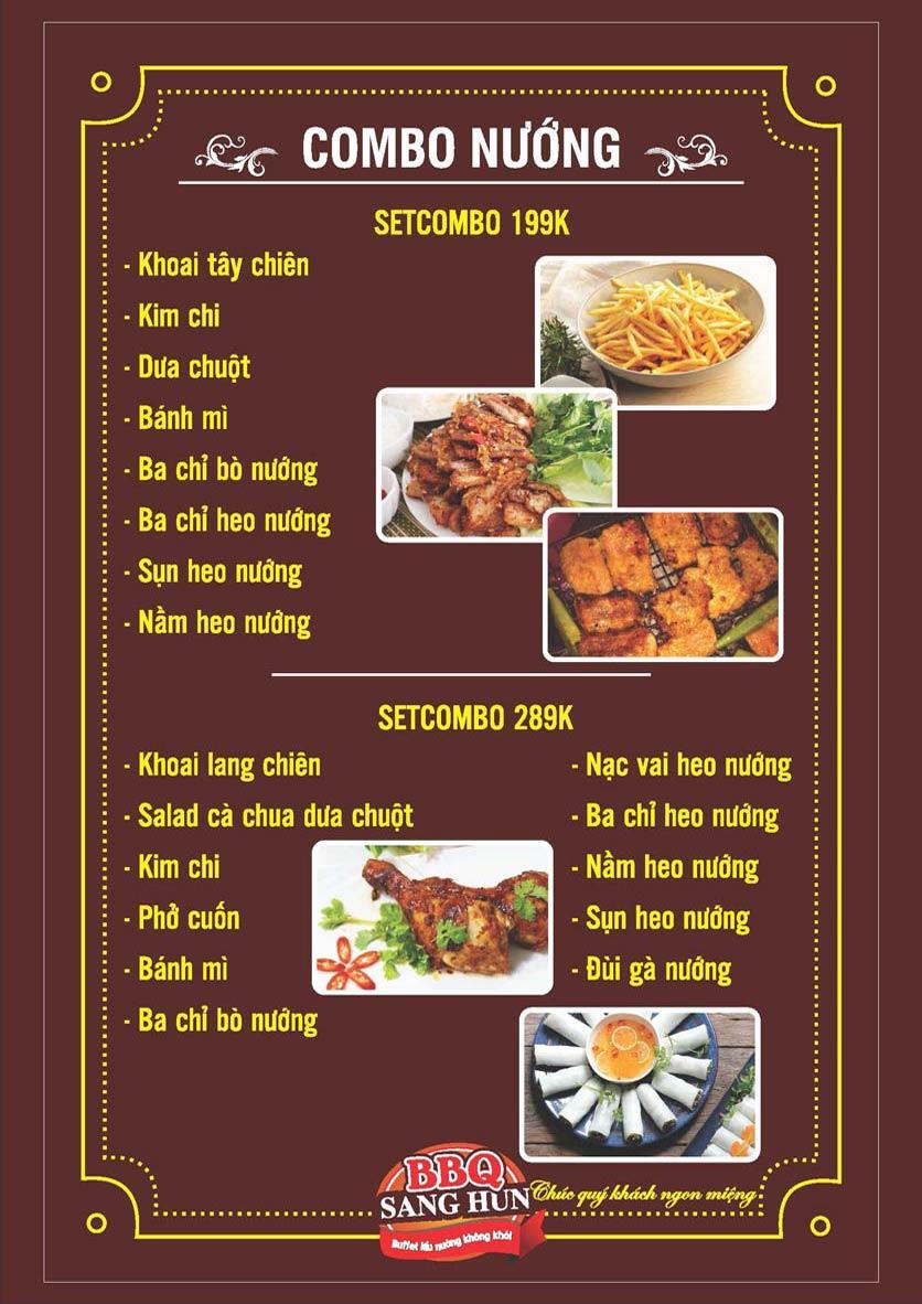Menu Sang Hun BBQ – Trần Quốc Hoàn  5