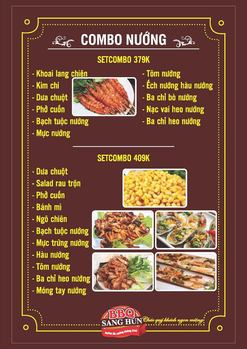 Menu Sang Hun BBQ – Trần Quốc Hoàn  6
