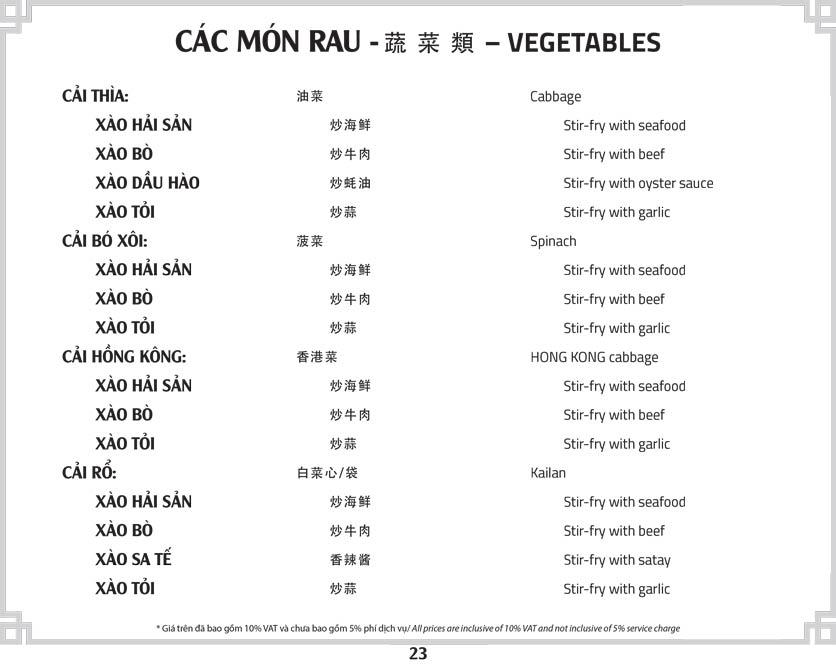 Menu Tân Hải Vân – Phan Văn Trị 26