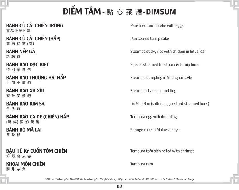 Menu Tân Hải Vân – Phan Văn Trị 5