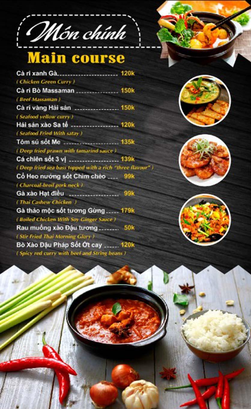 Menu Thái Food - Phan Đình Phùng 2