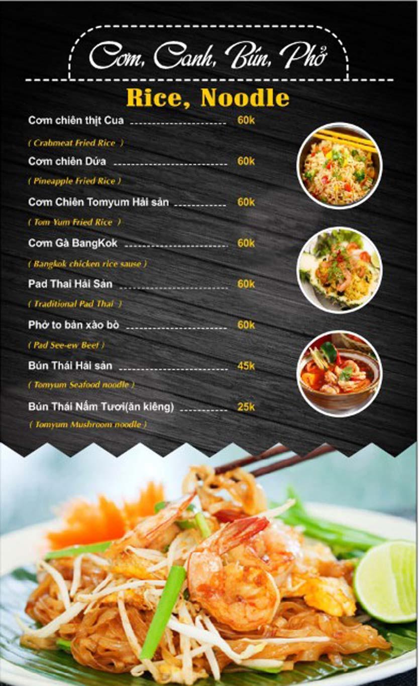 Menu Thái Food - Phan Đình Phùng 4