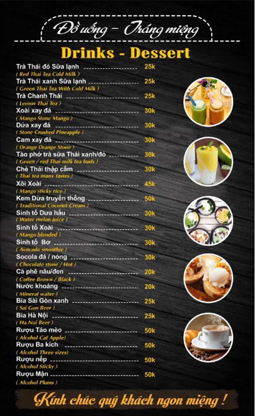 Menu Thái Food - Phan Đình Phùng 5