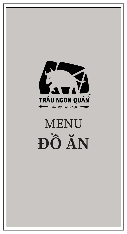 Menu Trâu Ngon Quán -  Hà Đông 1