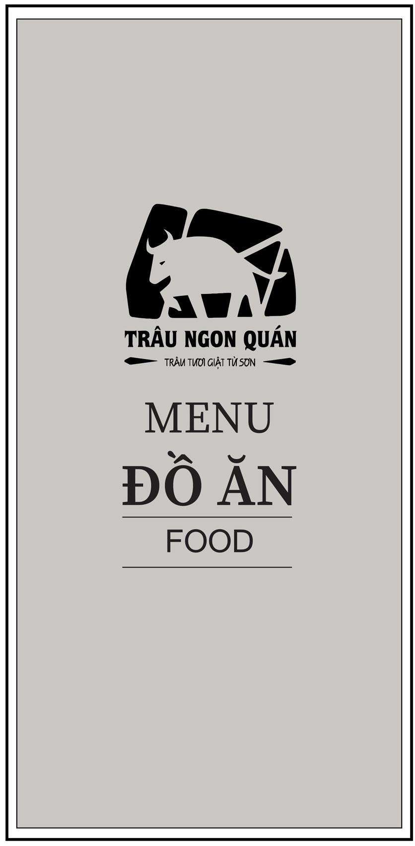Menu Trâu Ngon Quán -  Hoàng Đạo Thúy 1
