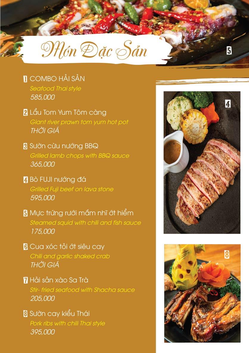Menu Uni Beer Restaurant - Hoàng Sa 1