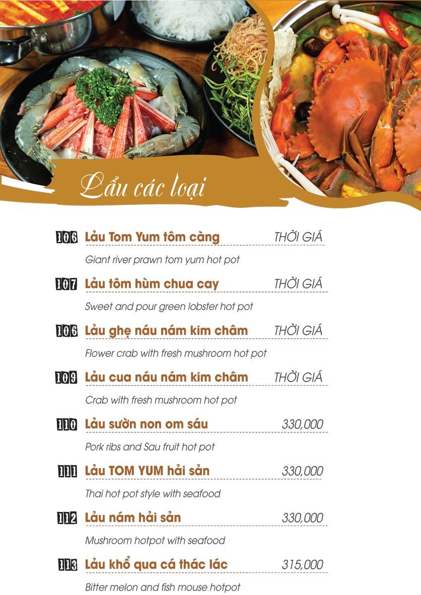 Menu Uni Beer Restaurant - Hoàng Sa 13