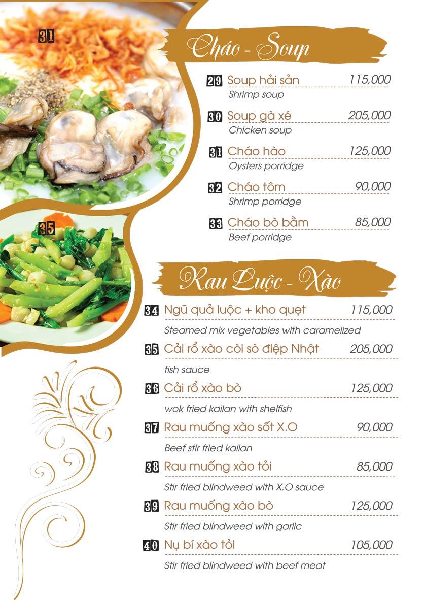 Menu Uni Beer Restaurant - Hoàng Sa 5