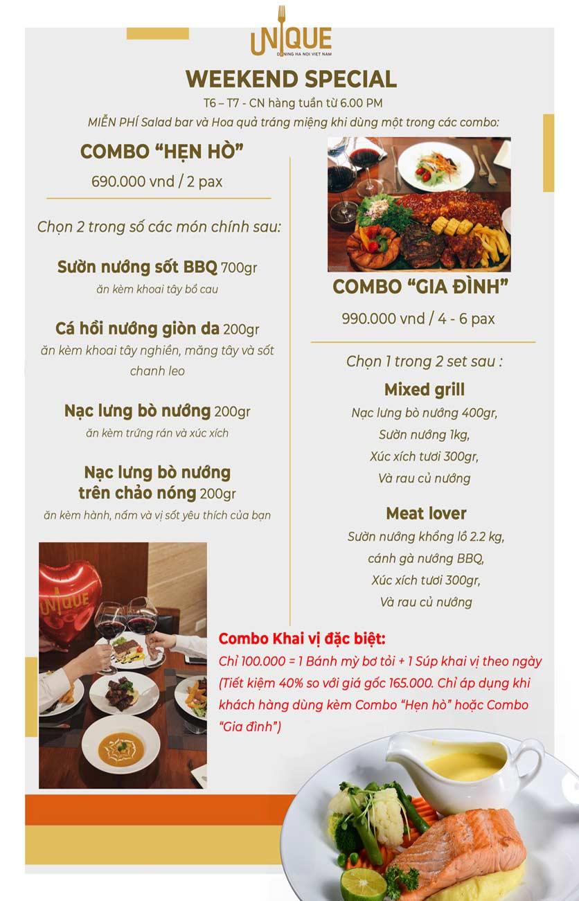 Menu Unique Dining Hanoi - 27 Hàng Bông 2