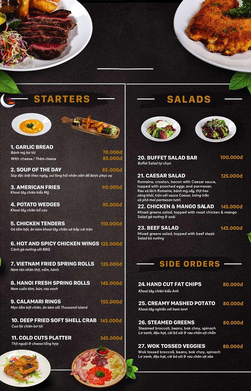 Menu Unique Dining Hanoi - 27 Hàng Bông 4