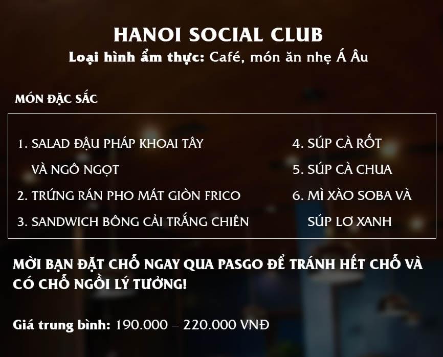 Menu The Hanoi Social Club 1