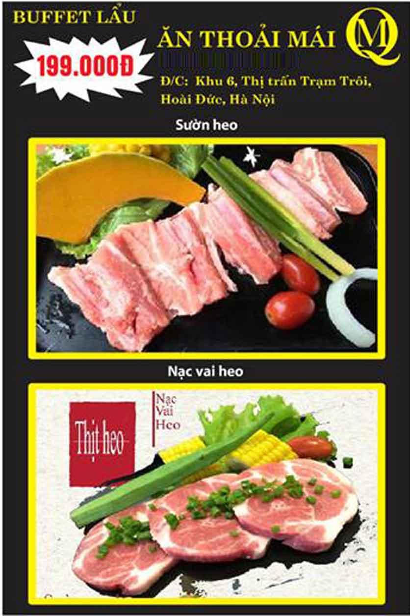 Menu Koishi BBQ - Đại Từ 5
