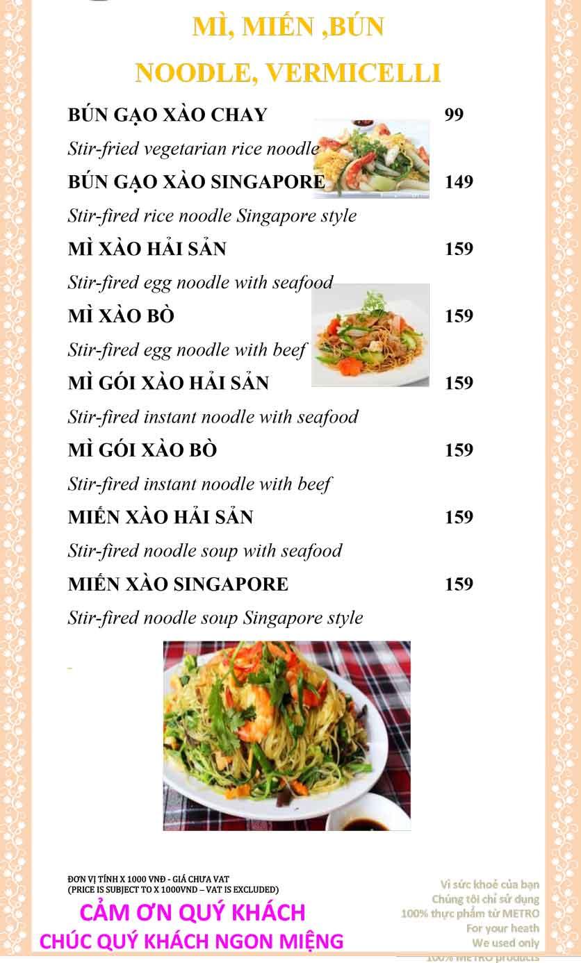 Menu Sài Gòn Xưa và Nay - Nguyễn Trung Trực 17