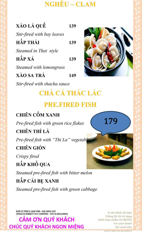 Menu Sài Gòn Xưa và Nay - Nguyễn Trung Trực 23