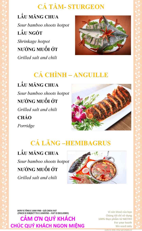 Menu Sài Gòn Xưa và Nay - Nguyễn Trung Trực 24