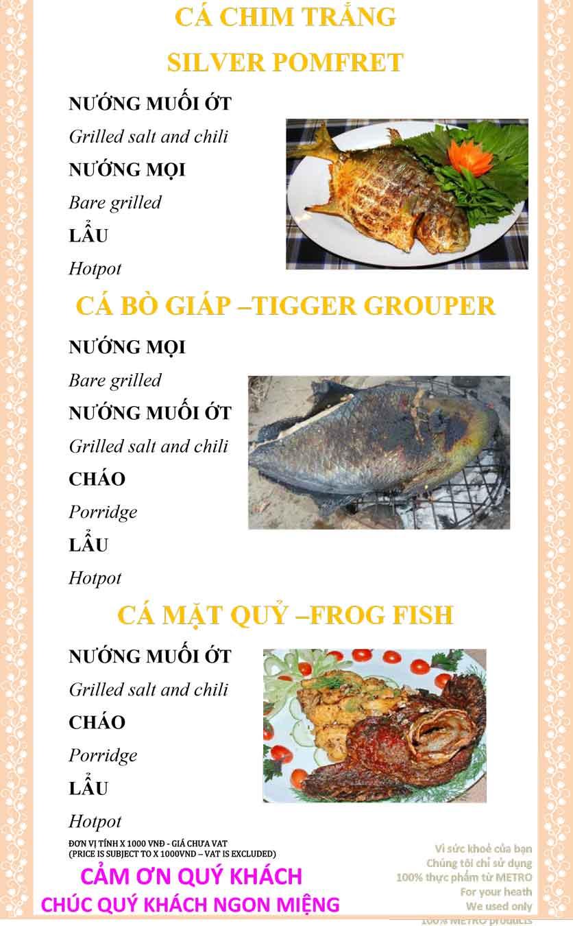 Menu Sài Gòn Xưa và Nay - Nguyễn Trung Trực 25