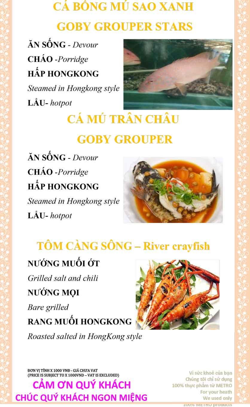 Menu Sài Gòn Xưa và Nay - Nguyễn Trung Trực 27