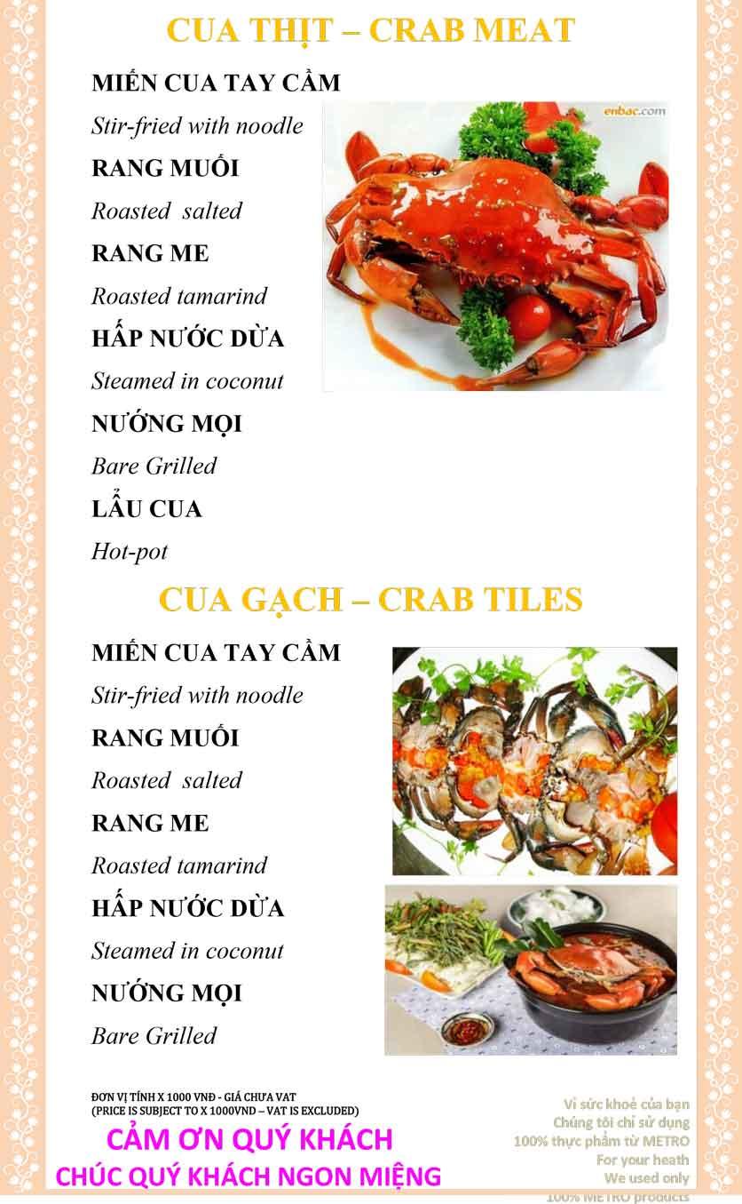 Menu Sài Gòn Xưa và Nay - Nguyễn Trung Trực 30