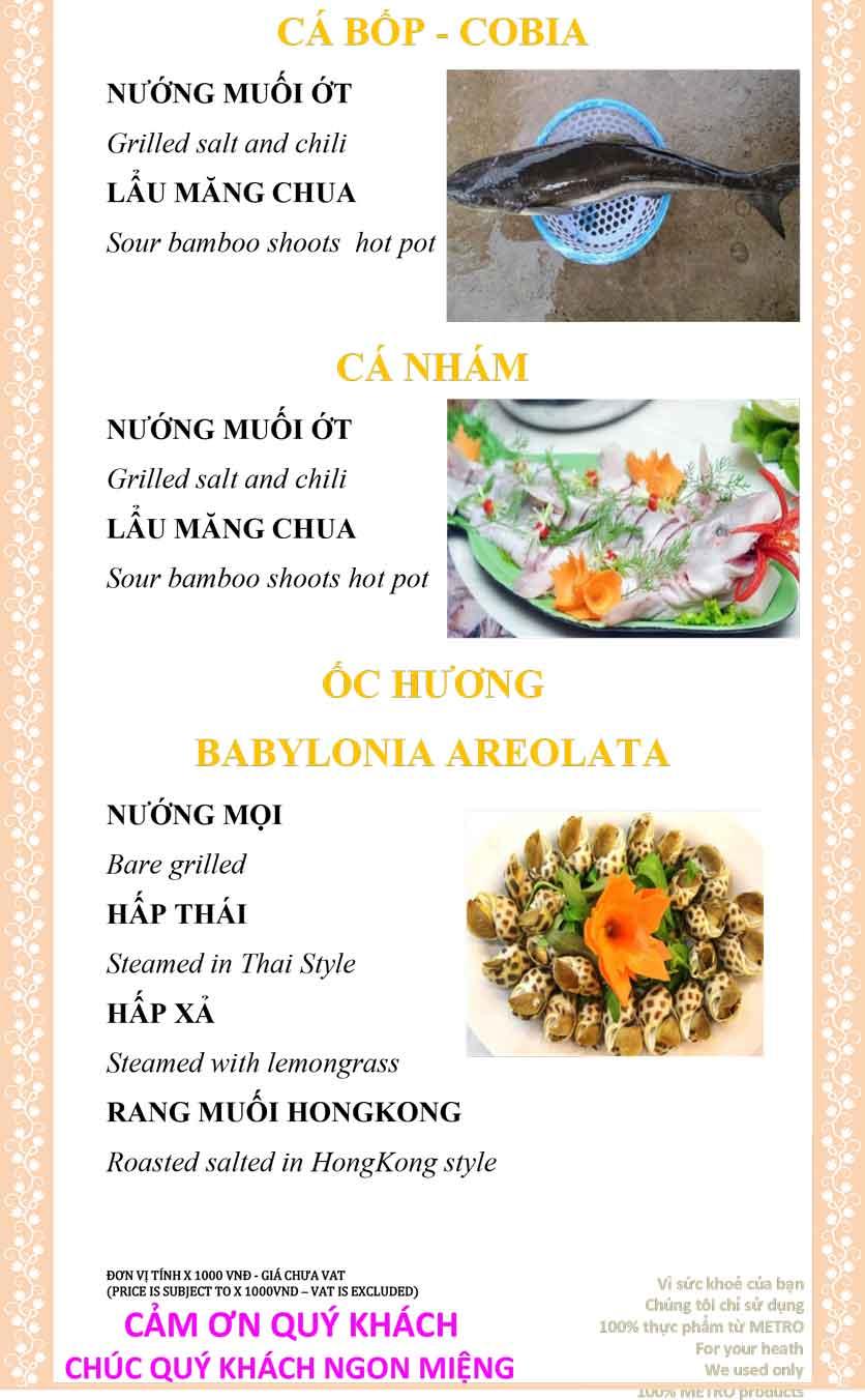 Menu Sài Gòn Xưa và Nay - Nguyễn Trung Trực 31