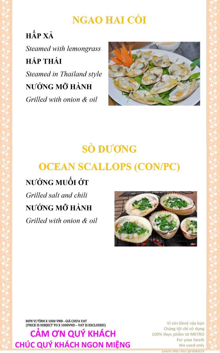 Menu Sài Gòn Xưa và Nay - Nguyễn Trung Trực 33