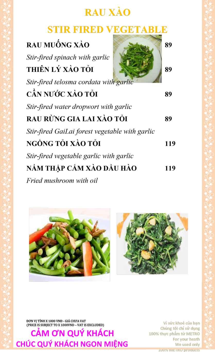 Menu Sài Gòn Xưa và Nay - Nguyễn Trung Trực 7