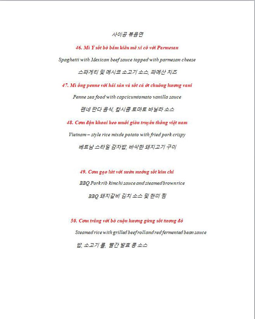 Menu Anchor Wine Boutique & Gastro Pub - Lê Văn Thiêm  9