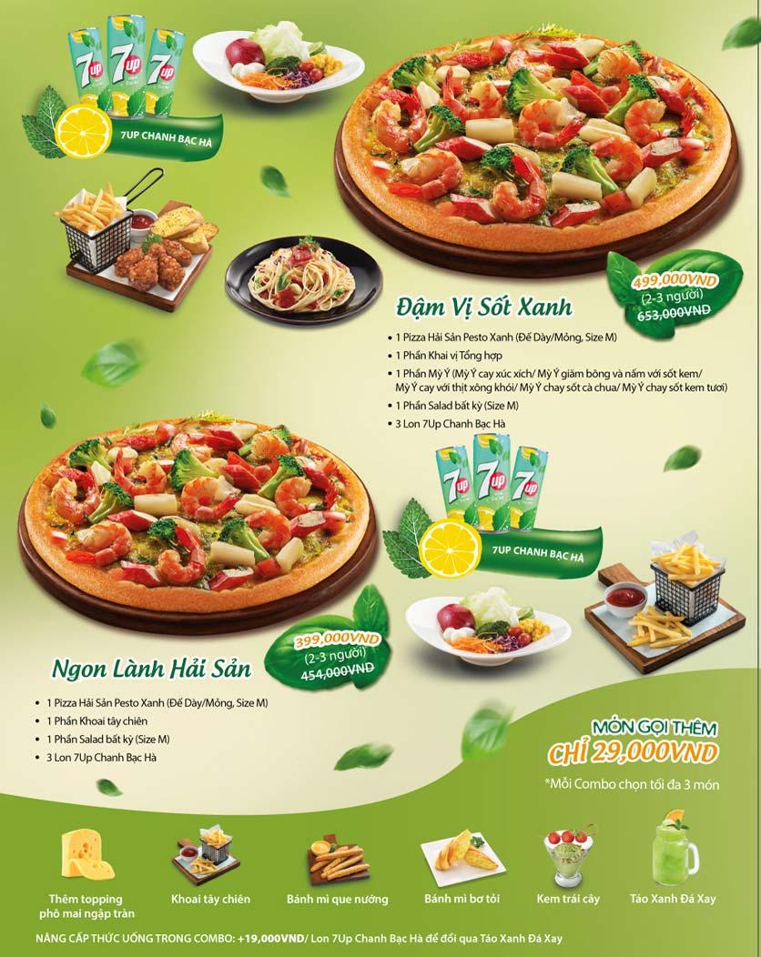 Menu The Pizza Company - Phạm Văn Đồng 1