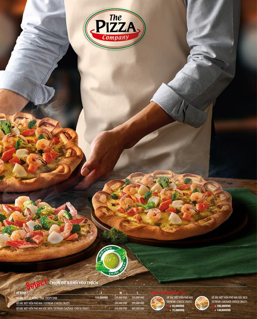 Menu The Pizza Company - Phạm Văn Đồng 12