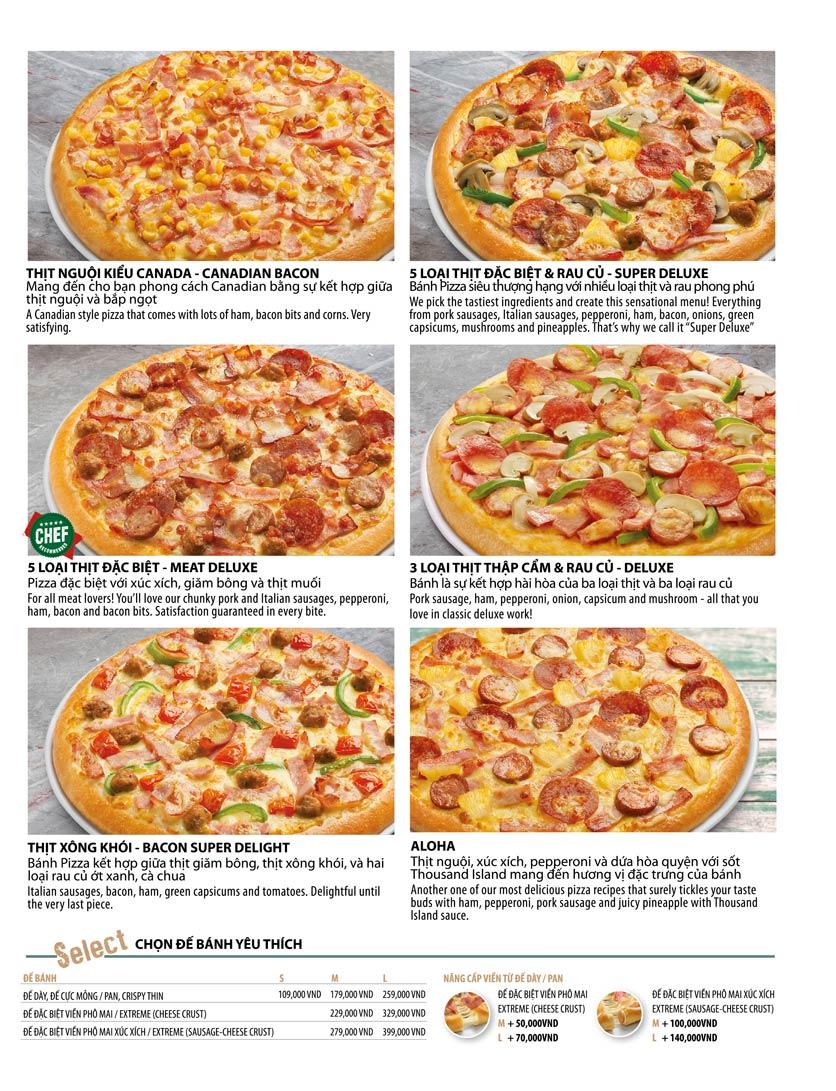 Menu The Pizza Company - Phạm Văn Đồng 16