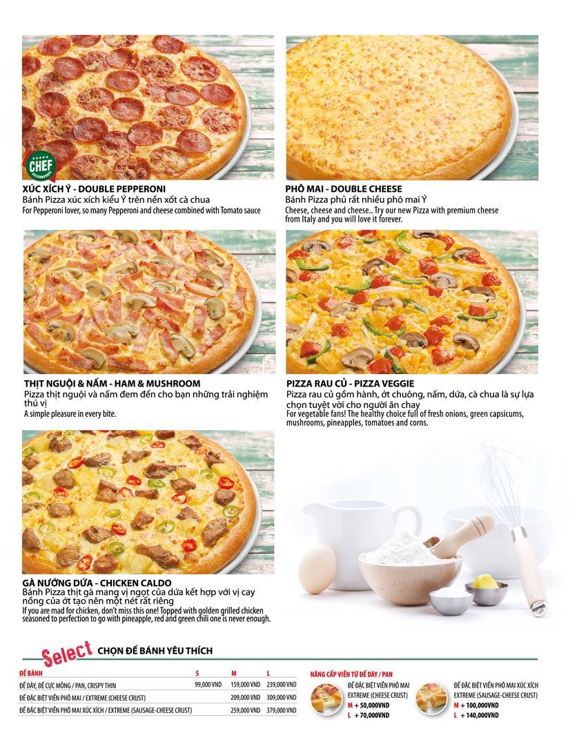 Menu The Pizza Company - Phạm Văn Đồng 18