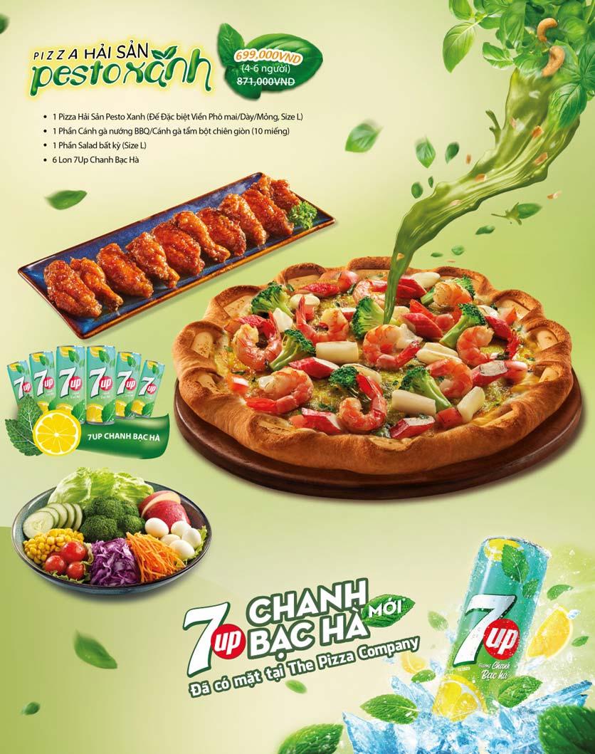 Menu The Pizza Company - Phạm Văn Đồng 2