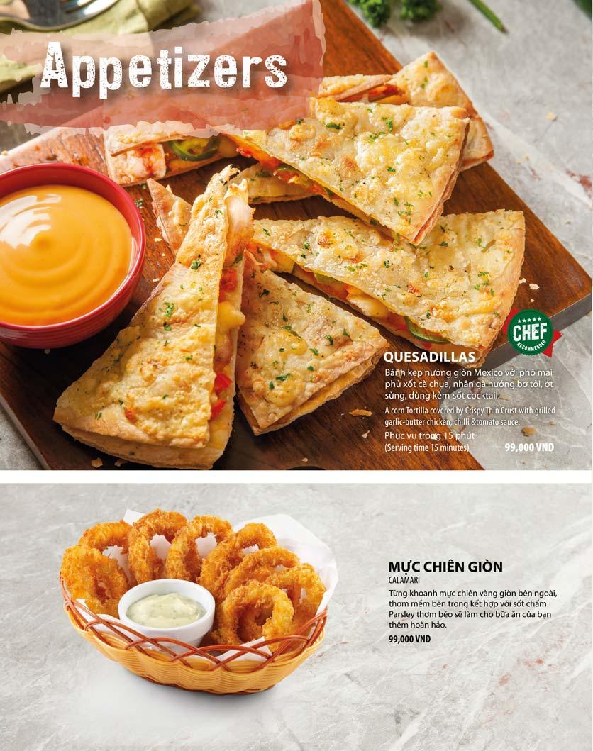 Menu The Pizza Company - Phạm Văn Đồng 5
