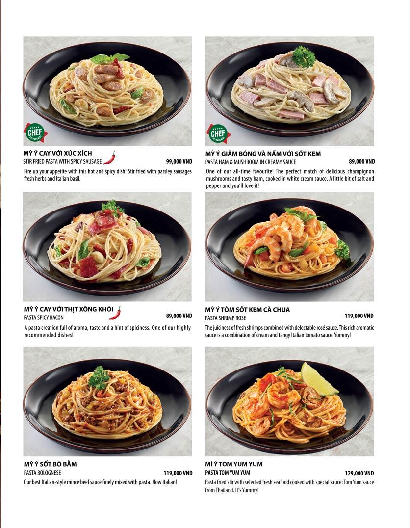 Menu The Pizza Company - Phạm Văn Đồng 8