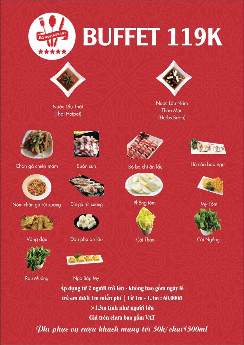 Menu A1 Restaurant  – Nguyễn Khuyến 1